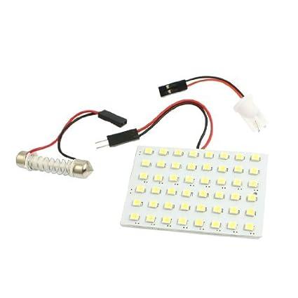 eDealMax White Car 1210 3528 SMD 48 Dome luz del Panel LED de la lámpara w