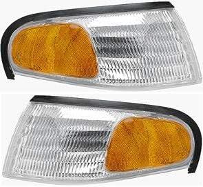 Corner Light Compatible with 1998-2000 Ford Ranger Plastic Clear /& Amber Lens Passenger Side