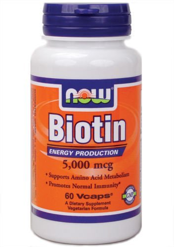 NOW Foods Biotin 5000 Mcg 60 Vcap Skin & Hair Health (1)