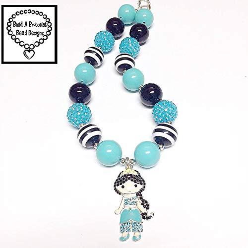 Toddler, Girls, Baby Bubblegum Chunky Necklace Princess Jasmine Bubblegum Chunky Jewelry Accessory by BuildABraceletBeadDesigns
