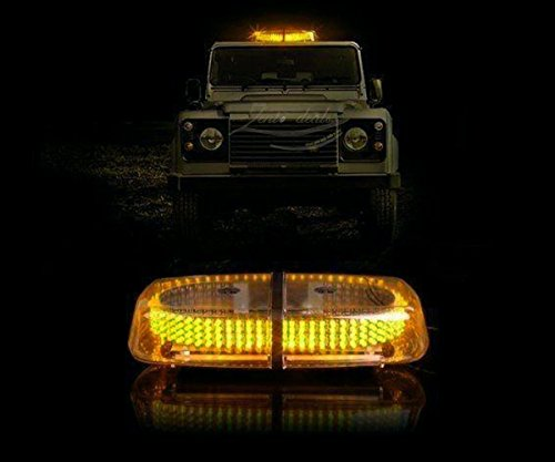 Zento Deals New Bright Amber 240-LED Strobe Light Warning Emergency Flashing Car Truck Construction Car Vehicle Safety w/ Magnetic Base