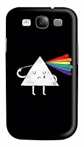Triangle Shooting Brains Rainbow Custom Polycarbonate Hard Case Cover for Samsung Galaxy S3 SIII I9300