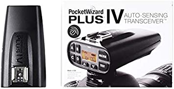 Black PocketWizard Plus IVe Radio Trigger with Enhanced Range and Reliability for Remote Photography and Off Camera Flash