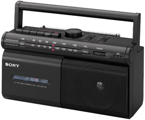 Sony CFM-30TW AM/FM Radio Cassette Recorder