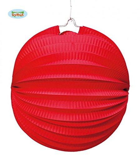 Farol Esférico de papel de 26 cm. de color rojo: Amazon.es: Juguetes y juegos