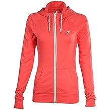 NIKE Womens AW77 Vintage Full Zip Jacket Athletic Hoodie Red