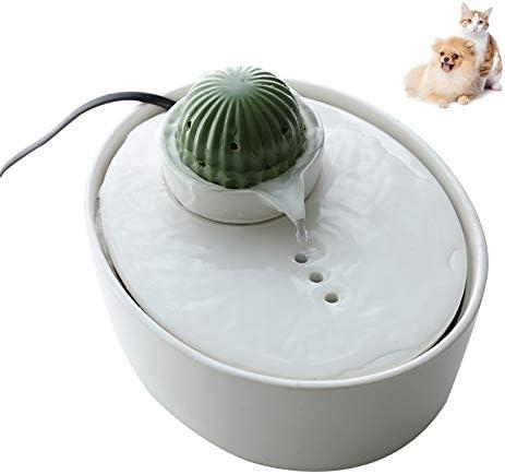 Fuente de cerámica para gatos PETVE, fuente de riego automático ...