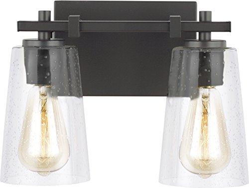 Feiss VS24302ORB Mercer Glass Wall Vanity Bath Lighting, Bronze, 2-Light (13
