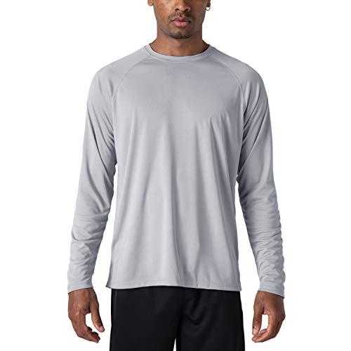 Rash Guard Men Long Sleeve Sun Protection Shirt Men Athletic T-Shirt Outdoor Shirts UV Clothing for Men Sun Protection T-Shirt - Thermal Fishing Shirt