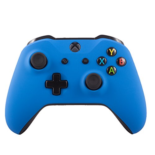 Xbox One S Wireless Bluetooth Controller Custom Soft Touch (Blue) (Blue Shell Controller Xbox)