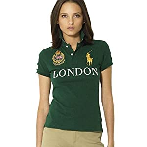 Ralph Lauren Pony London Green Short Sleeved Polo SIZE:M