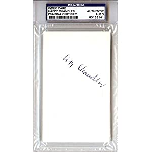 "AB""Happy"" Chandler Autographed 3x5 Index Card #83155141 PSA/DNA Certified MLB Cut Signatures"