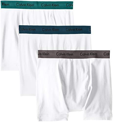 Calvin Klein Cotton Stretch Boxer Brief 3-Pack, M, White Assorted