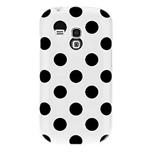 DUR Polka Dots Rubber Back Case Cover for Samsung Galaxy S3 Mini i8190(Assorted Color) , Yellow