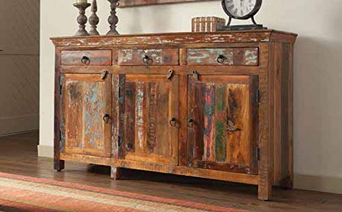Coaster 950367-CO 3 Drawer 3 Door Sideboard, Reclaimed Wood