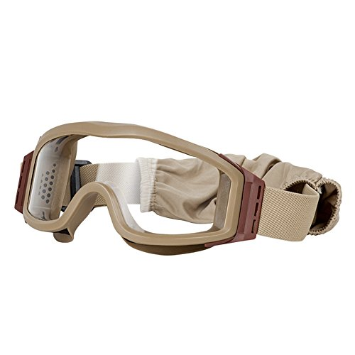 Valken Airsoft Tango Goggles, with 3 Lenses, Tan Frame