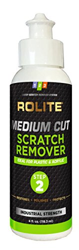 Medium Cut Scratch Remover for Plastic & Acrylic Surfaces including Marine Strataglass & Eisenglass, Headlights, - Remover Glasses Scratch