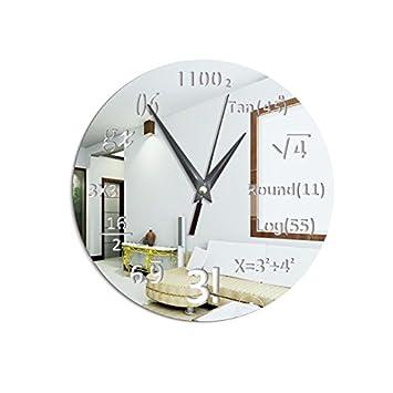 Mrzy Gran Reloj de Pared Creativo Matemáticas Pizarra Pop ...