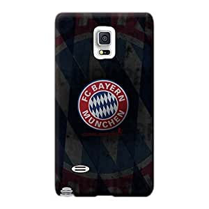 Shock Absorption Hard Phone Cases For Samsung Galaxy Note 4 With Allow Personal Design High Resolution Bayern Munich Series TraciCheung