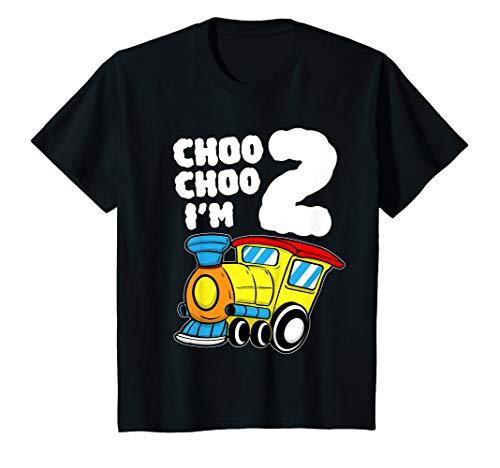 Kids I'm Two Train 2nd Birthday T Shirt Boy Toddler 2 Train Gift T-Shirt