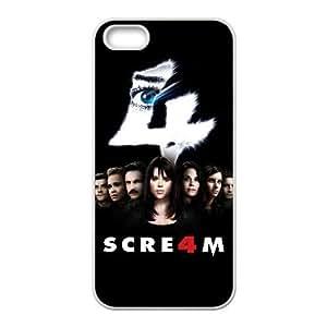 Scream 4 Alta Resolución cartel iPhone 4 4S caja del teléfono celular funda blanca del teléfono celular Funda Cubierta EEECBCAAL79361