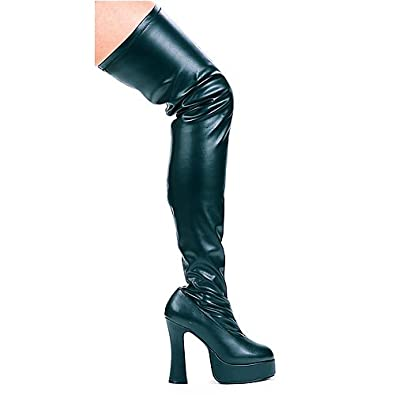 51476feb7cc Thrill Thigh High Boots Adult Shoes Black - Size 7