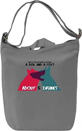 What's the difference between dog and fox Borsa Giornaliera Canvas Canvas Day Bag| 100% Premium Cotton Canvas| DTG Printing|