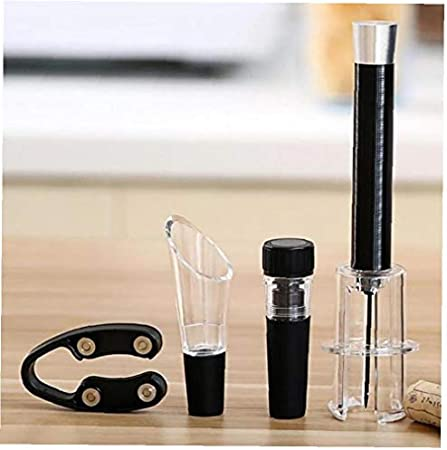 BYFRI Botella con Estilo Rojo Vino abridor Corcho removedor de Aire de la Bomba de presión Fácil Herramientas del sacacorchos 4PC Sets