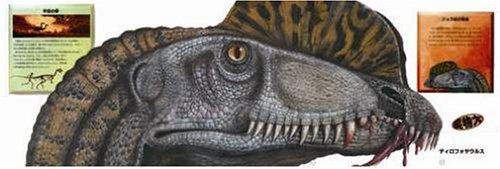 実物大の恐竜の顔