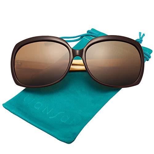 Brown de Acetate Femmes soleil oversize LianSan Lunettes UV400 Lsp301 soleil de polarisšŠe protection Polarized Mode Lunettes de FaSFq