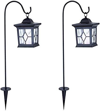 cour suspendue en m/étal WBTY Lampes solaires de jardin en m/étal accessoires de jardin pour porche terrasse lanterne solaire cour cour. pelouse