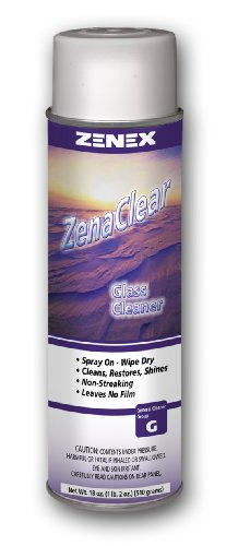 (Zenex ZenaClear Streakproof Glass and Surface Cleaner - 12 Cans (Case))