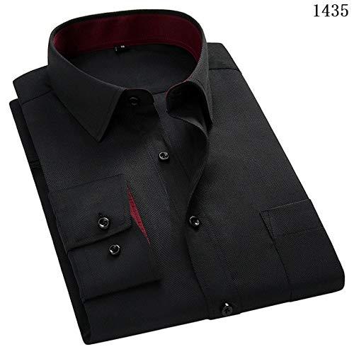 Hombres Mangalarga Camisa Slim Fit Estilo Diseño Sólido ...