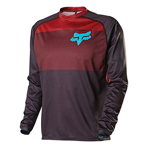 Fox Head Men's Indicator Long Sleeve Jersey, Red, Medium