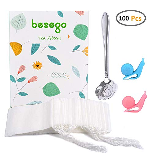 Besego 100Pcs Drawstring Tea