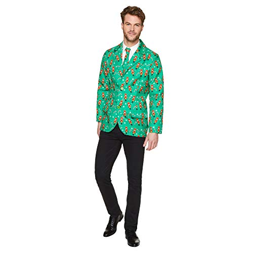 Green Nutcracker Jacket and Tie - Christmas Holiday Mens Costume, XL]()