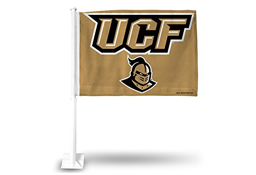 NCAA UCF Knights Car Flag, Gold, with White Pole