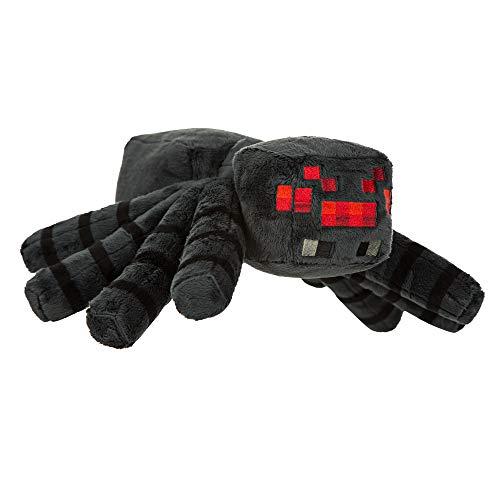 - JINX Minecraft Spider Plush Stuffed Toy (Black, 13