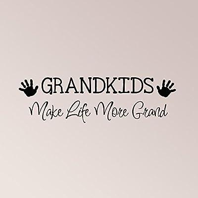 "36""x12"" Grandkids Make Life More Grand Wall Decal Sticker Art Home Decor: Home & Kitchen"
