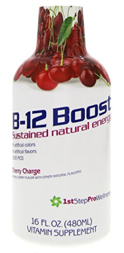 High Performance Fitness INC. 1st Step Liquid B-12, Cherry Charge, 16-fluid ounces