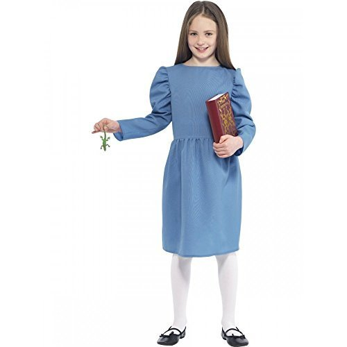 Smiffy's Big Girls' Matilda Roald Dahl Fancy Dress Costume Medium Age 7 To 9 Blue - Roald Dahl Costumes For Girls