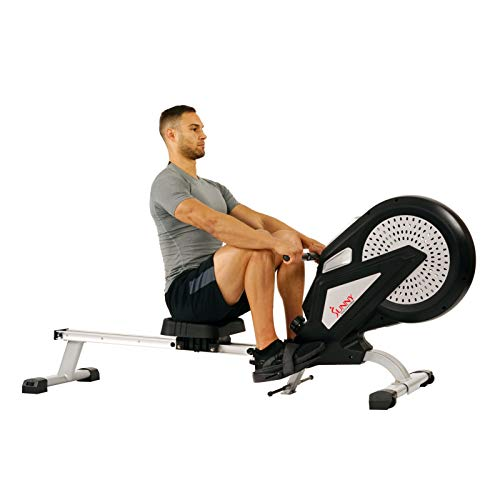Sunny Health & Fitness SF-RW5623 Air Rowing Machine Rower w/ LCD Monitor by Sunny Health & Fitness (Image #4)