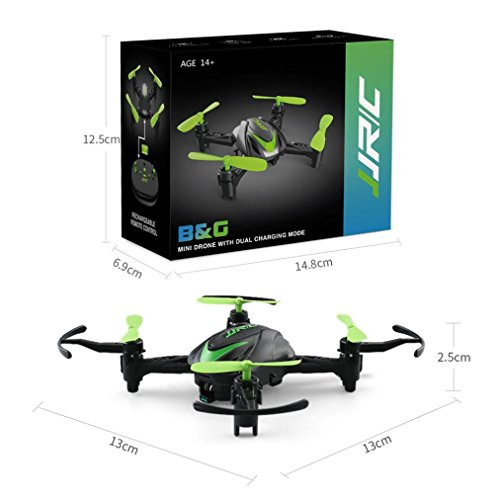 Dreamyth Mini JJRC H48 Mini Drone 6 Axis 2.4G RC Micro Quadcopters Remote Control For Kid Fun (Green) by Dreamyth