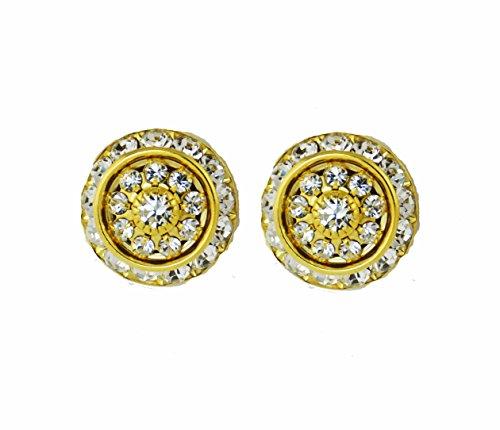Western bling jewelry swarovski crystal post earrings 14kt Gold Electroplate