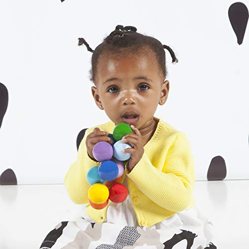 Manhattan Toy Classic Baby Beads Wood Rattle, Teether, and Clutching Toy
