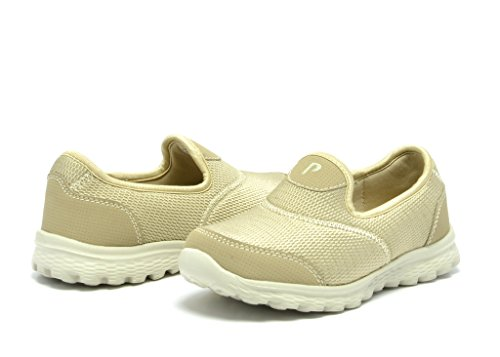 Dream Pairs Girl's Go Easy Walking Flexsible Slip On Light Weight Running Sneakers Shoes (Toddler/Little Kid/Big Kid)