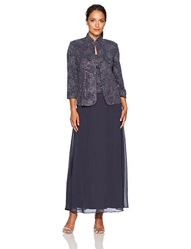 Dresses Evening Jacquard Dress - 1