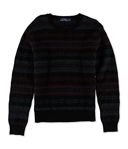 ns Wool Pattern Pullover Sweater Navy M ()