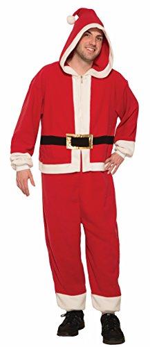 Forum Novelties Men's One-Piece Santa-Std, As As Shown, Standard ()