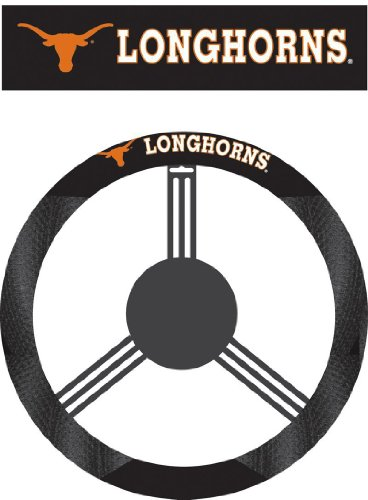 NCAA Texas Longhorns Polysuede Steering Wheel Cover by Fremont Die